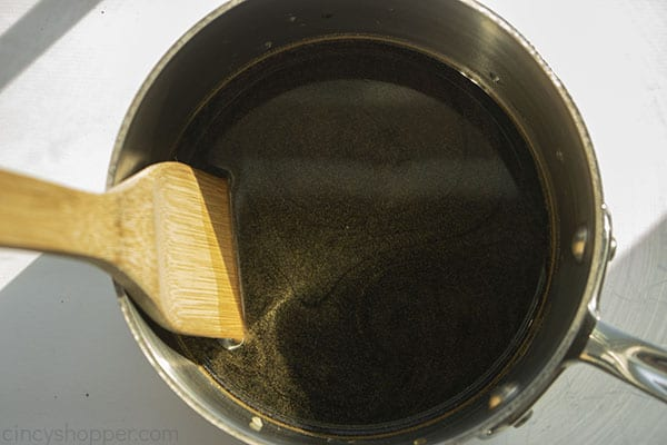 Sauce ingredients in a sauce pan