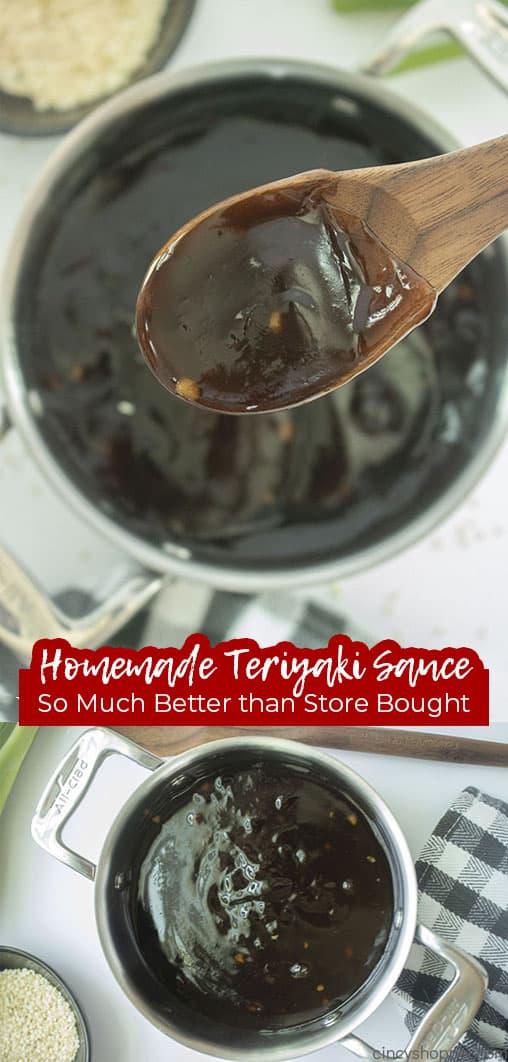 Long pin Homemade Teriyaki Sauce So Much Better than Store Bought