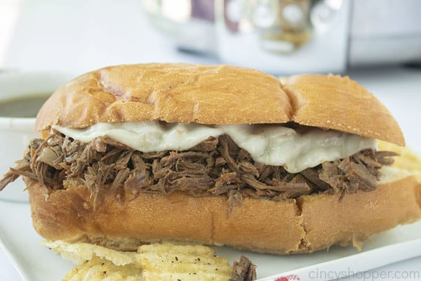 French Dip Sandwich made in Slow Cooker