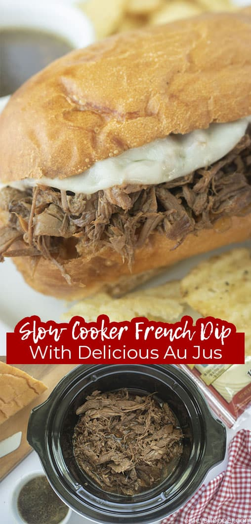 Long pin Slow Cooker French Dip with Delicious Au Jus
