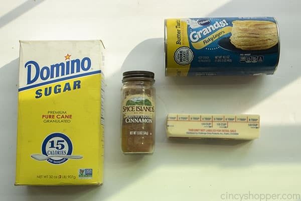 Ingredients for Air Fryer Biscuit Donuts