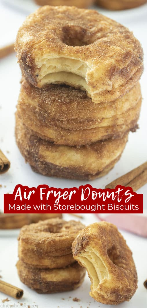 Long pin Air Fyer Donuts Made with Store-Bought Biscuits