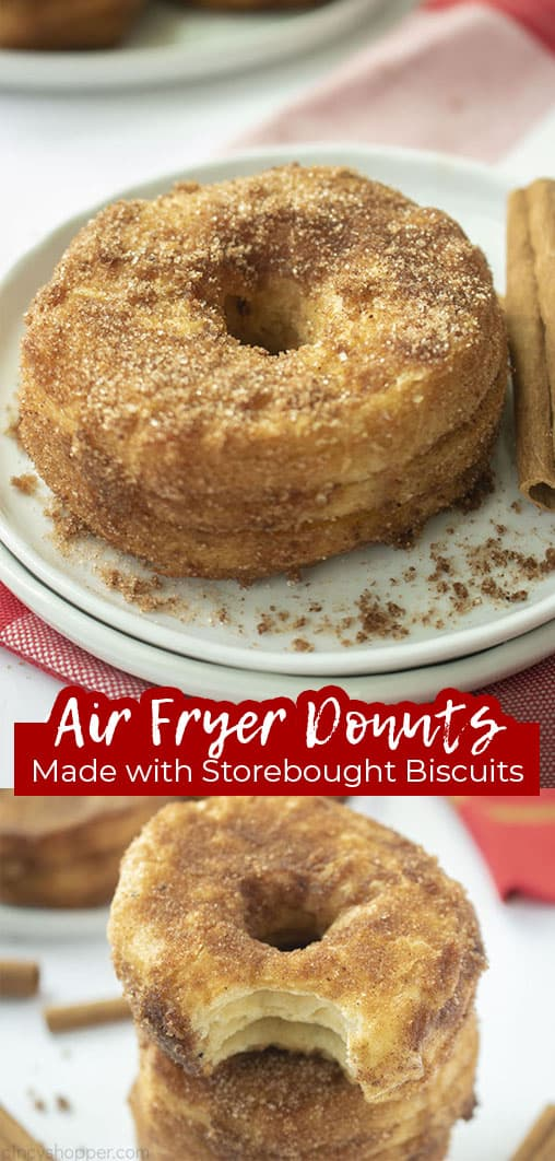 Long pin Air Fryer Donuts Made with Store-Bought Biscuits
