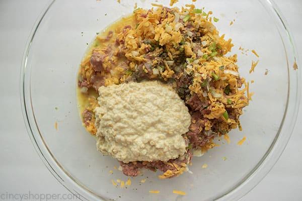 Cracker mixture added to meatloaf