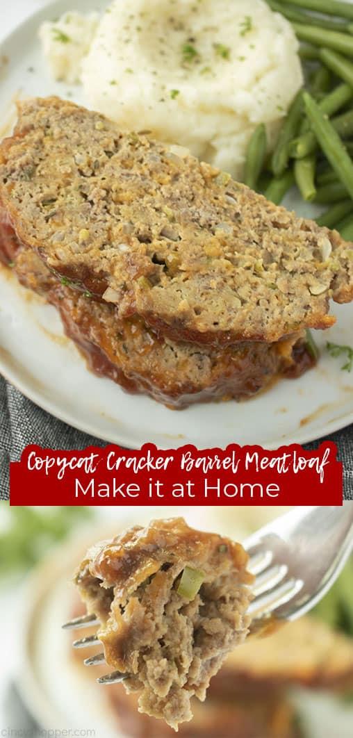 Long pin Copycat Cracker Barrel Meatloaf Make it at home