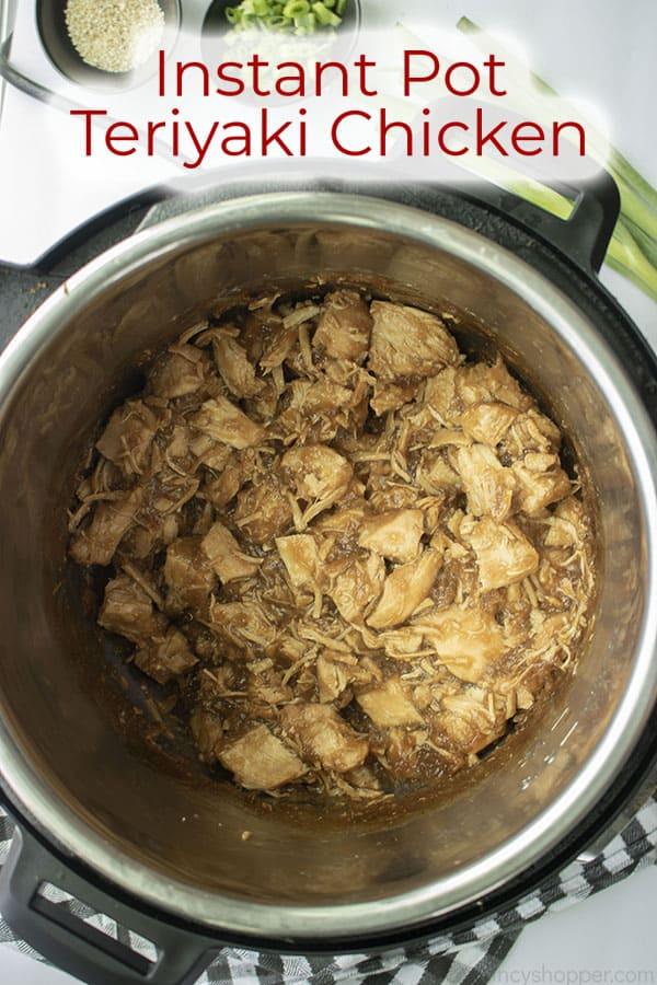 Text on image Instant Pot Teriyaki Chicken