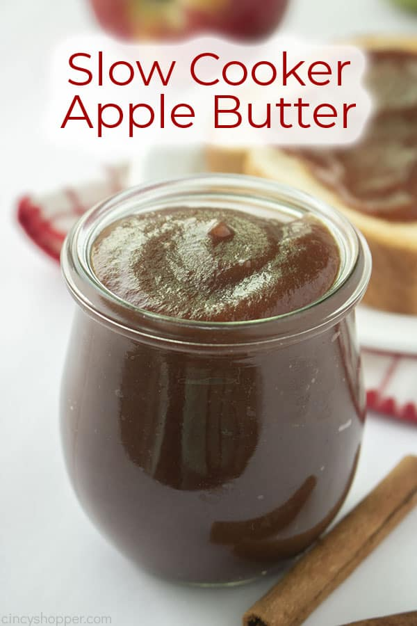 Text on image Slow Cooker Apple Butter