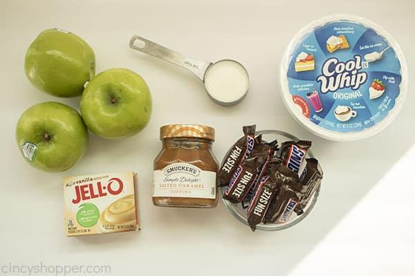 Snicker Apple Salad ingredients