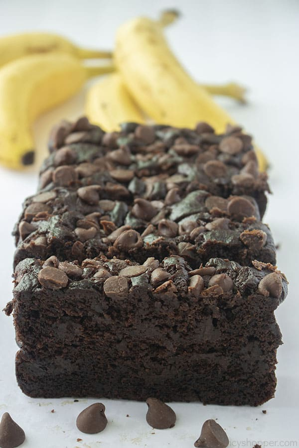 Chocolate Banana Bread with chips
