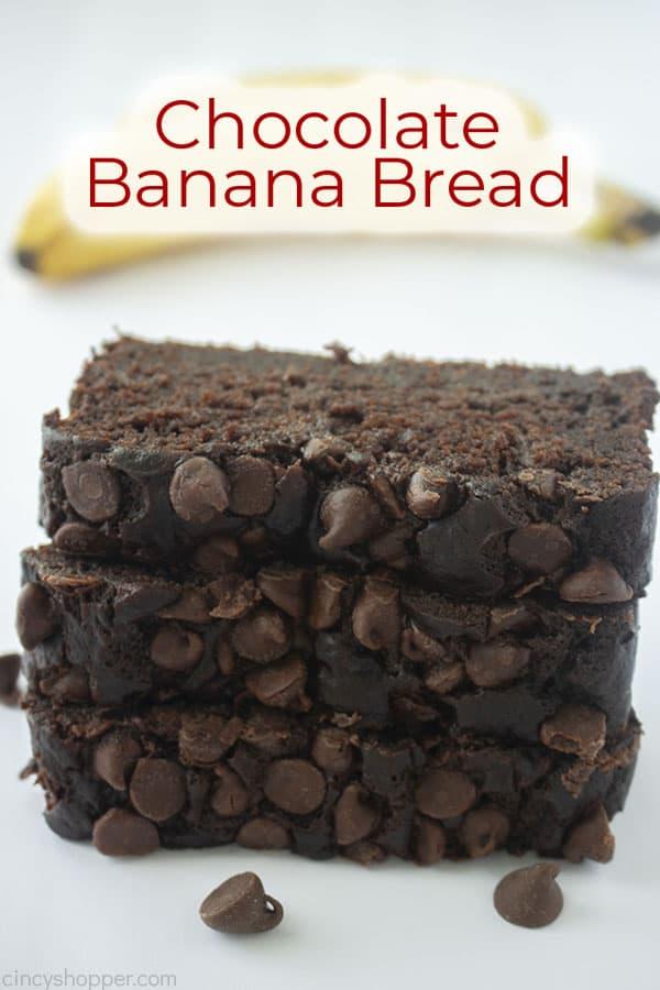Text on image Chocolate Banana Bread