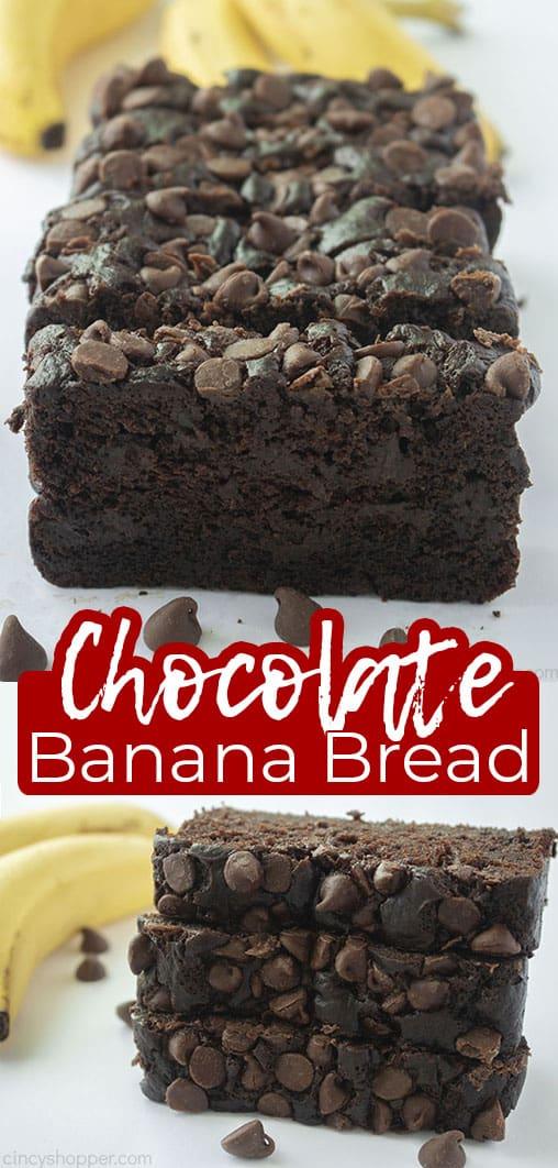 Long pin Chocolate Banana Bread